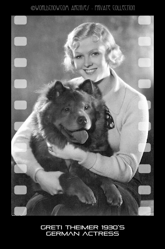 Greti Theimer WWII Actress and her chow Moved to archives