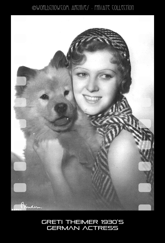 Greti Theimer WWII Actress and her chow