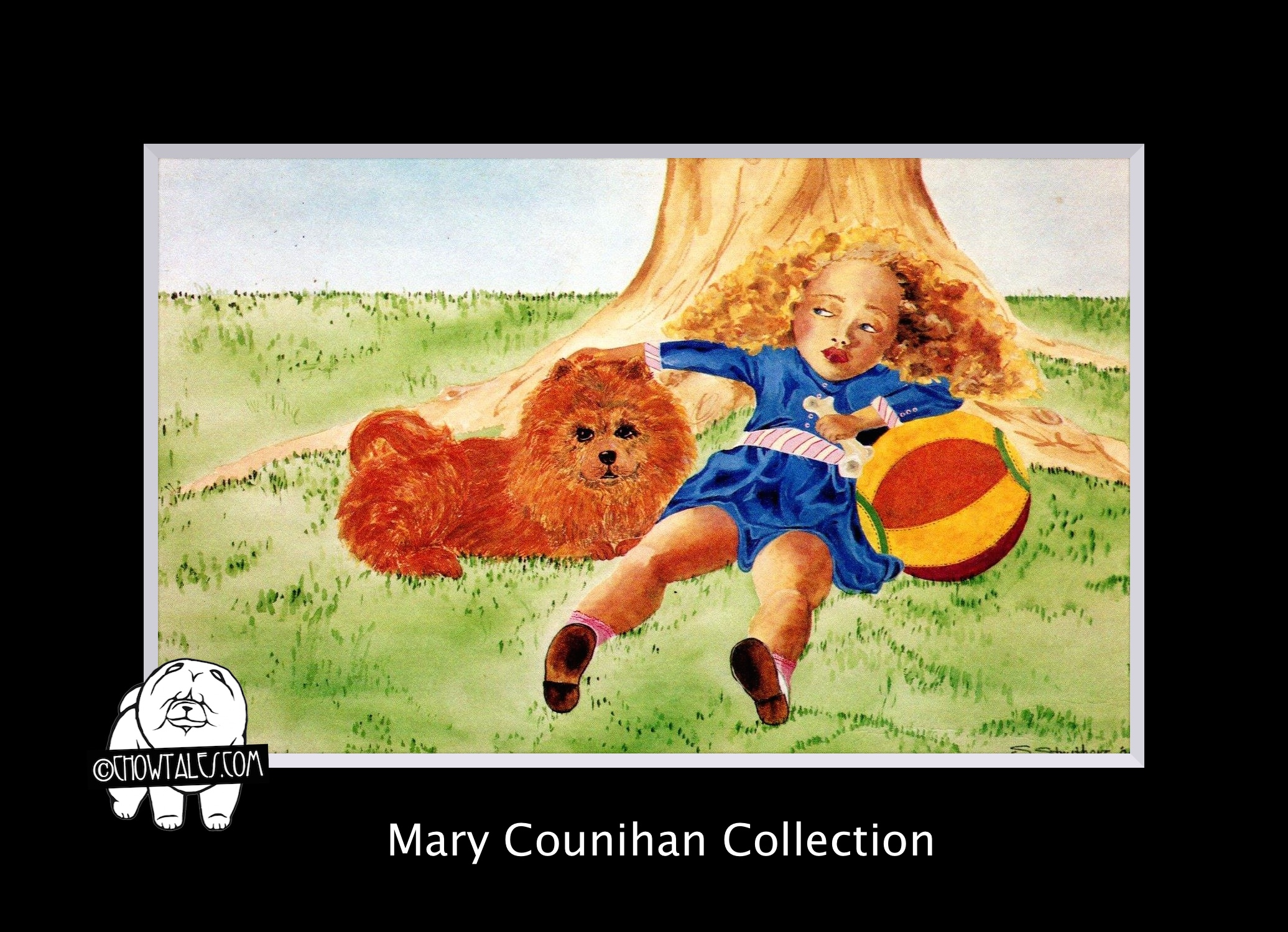sally struthers chow postcard mary counihan (2 of 2)