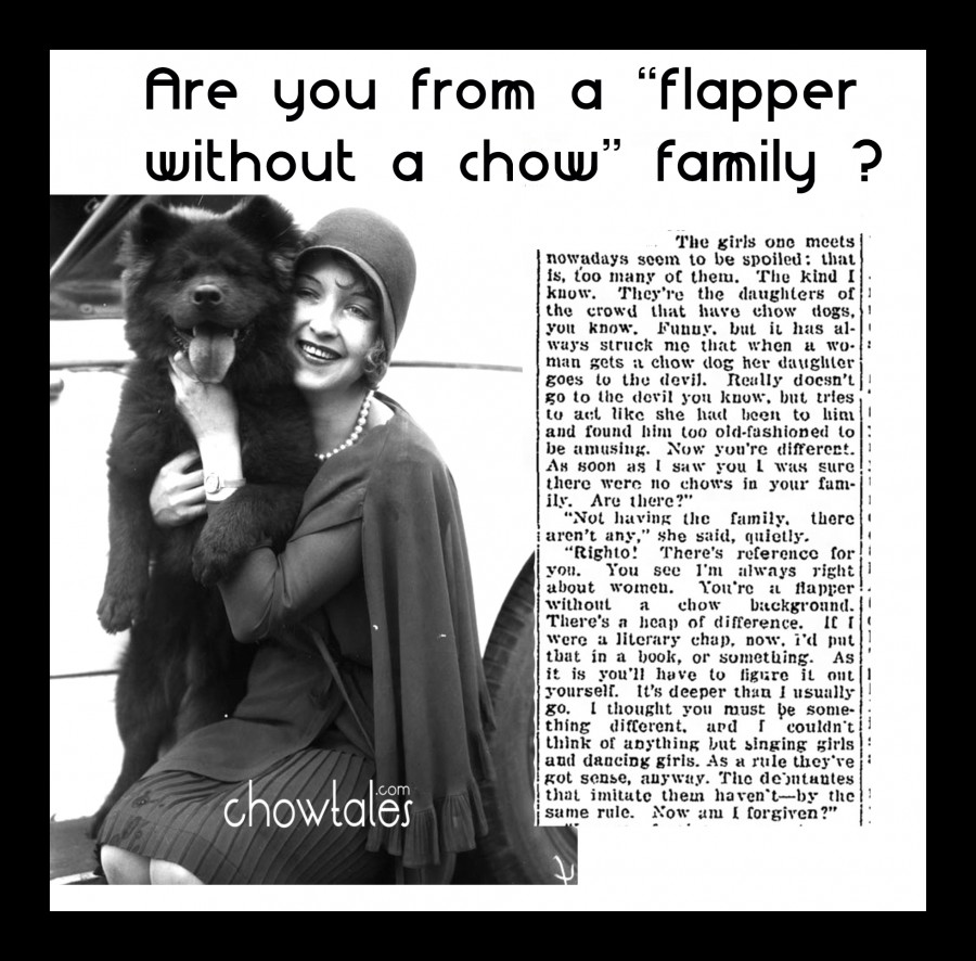FLAPPER WITHOUT A CHOW
