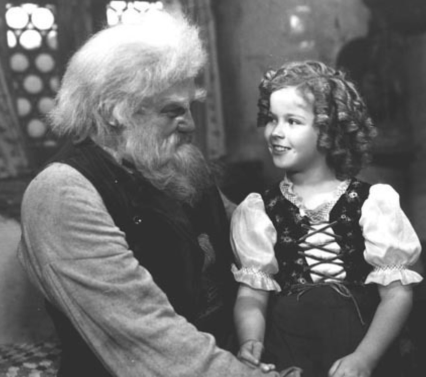 JEAN HERSHOLT AS GRANDPA IN HEIDI WITH SHIRLEY TEMPLE
