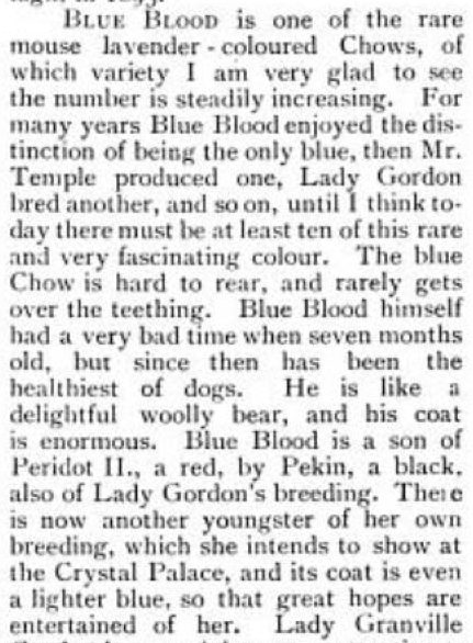 BLUE BLOOD SEPT 18 1897 COUNTRY LIFE