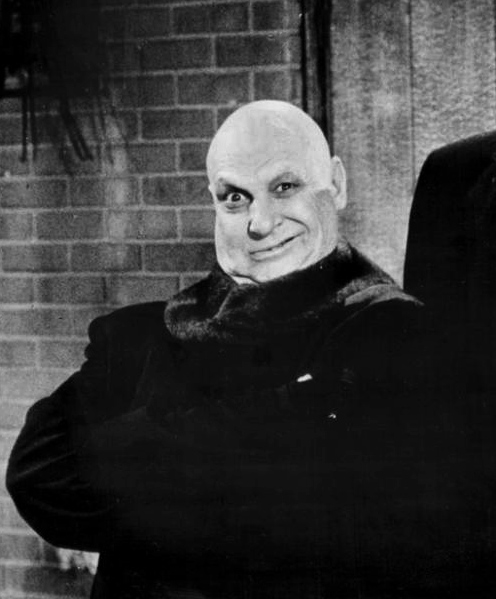JACKIE COOGAN AS UNCLE FESTER IN THE ADDAMS FAMILY SOURCE: WIKIPEDIA