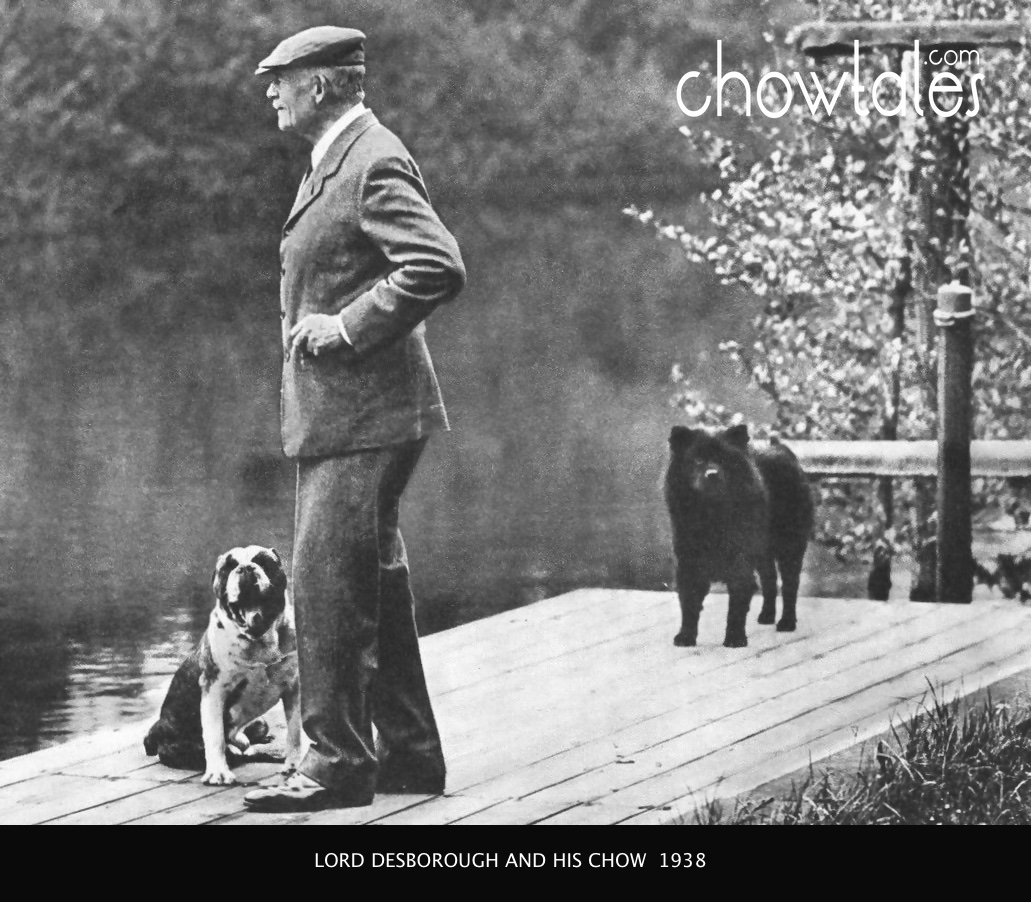 Lord Desborough and chow 1938