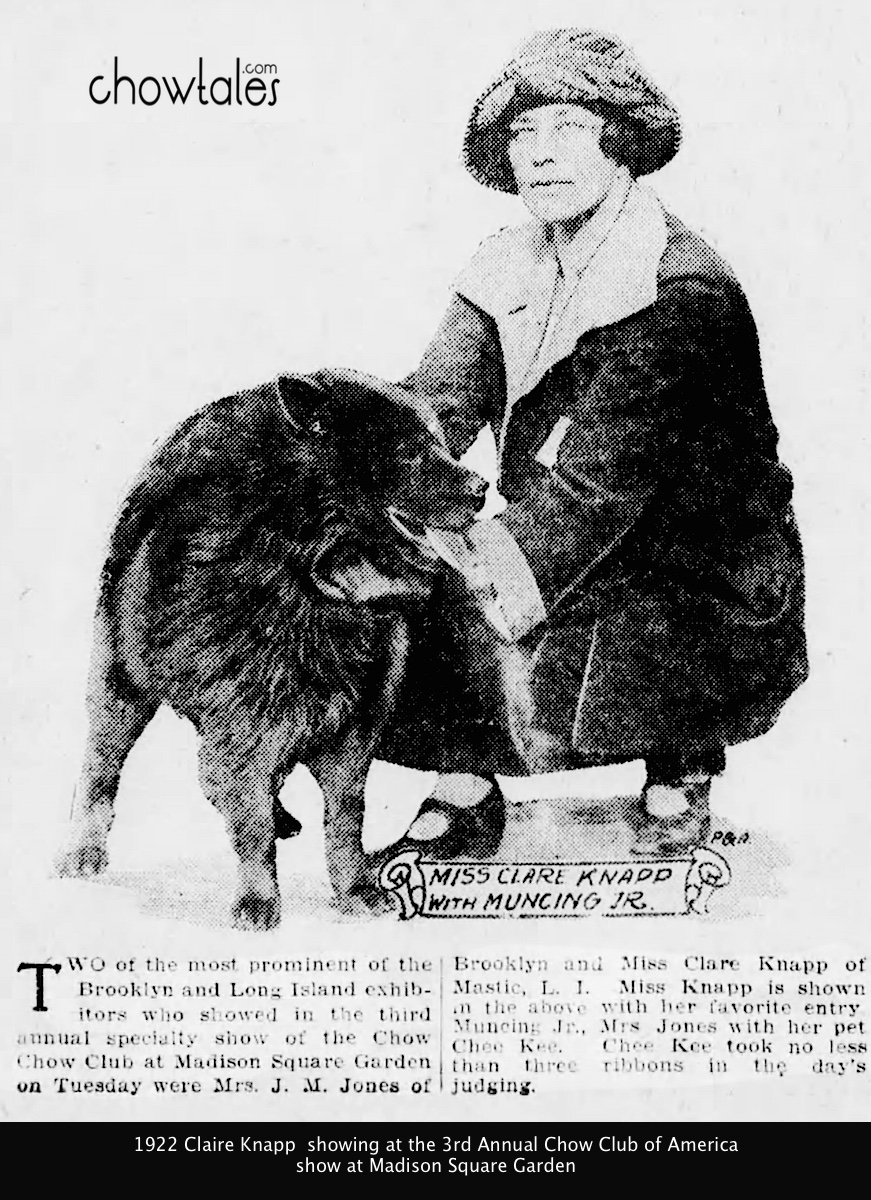 Claire Knapp Penney was to become on of the most respected women in the sport of dogs