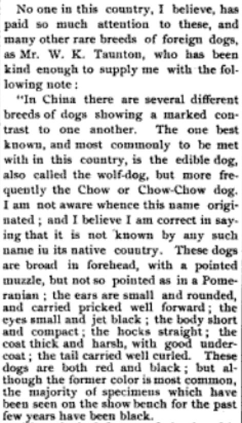 The Fanciers' Journal 1890 Chinese Puzzle 3