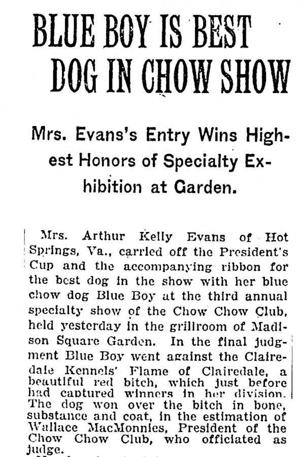 A-1922 Blue Boy Wins National article
