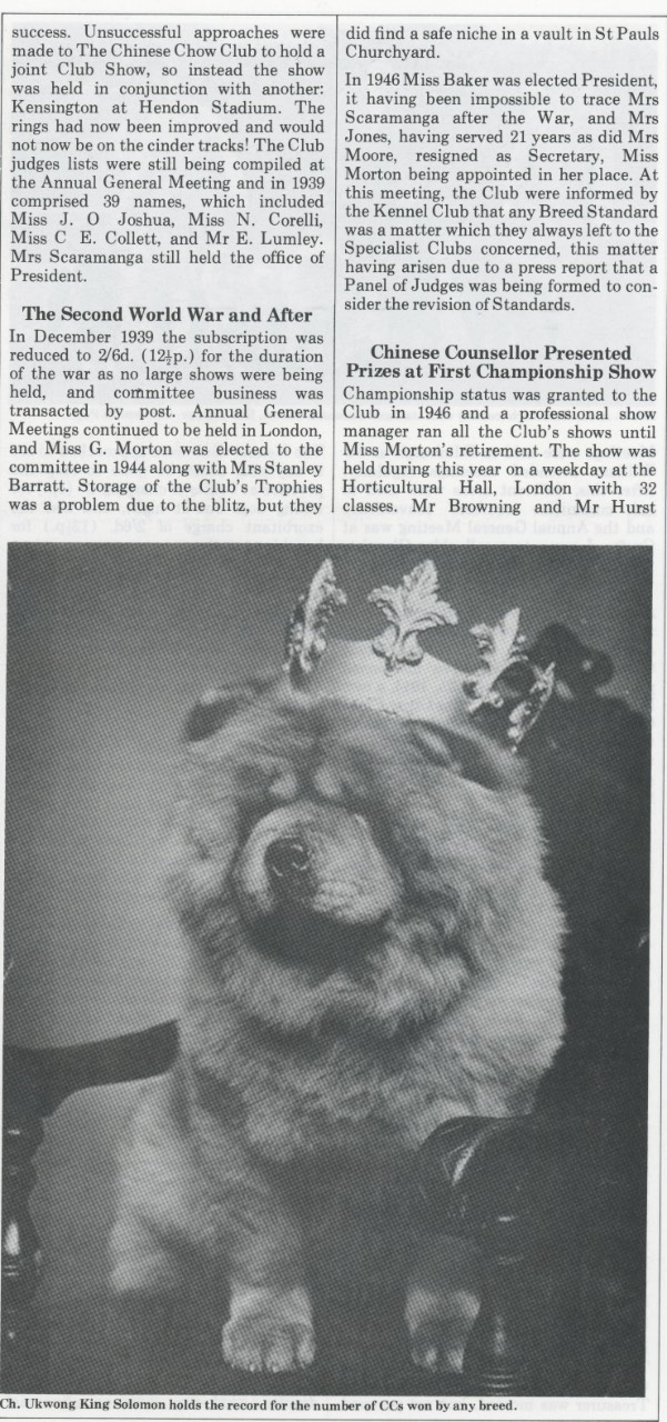 P-3-D Kennel Gazette Feb 1985 founding of Chow Chow Club UK - Version 3
